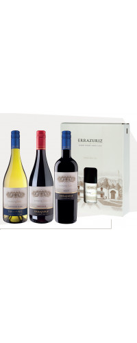Errazuriz Estate Series in giftbox Sauvignon Blanc - Pinot Noir - Merlot