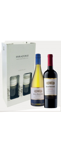 Errazuriz Max Reserva Chardonnay en Carmenere in giftbox