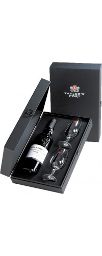 Taylor's cadeaudoos met 1 fles Late Bottled Vintage en 2 glazen