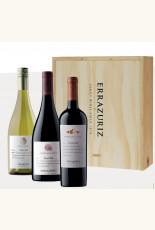 Errazuriz Aconcagua Costa Pinot Gris - Pinot Noir - Carmenere in houten kist