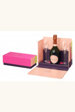 Geschenkverpakking met 1 fles Laurent-Perrier Cuvée Rosé Brut en 2 glazen